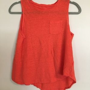 Tops - Orange tank top
